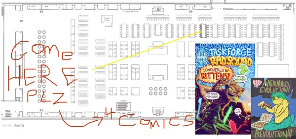 Planet Comicon Map Mermaid Evolution