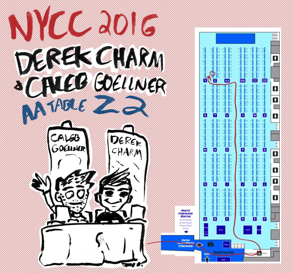 Caleb Goellner Derek Charm NYCC 2016 Z2