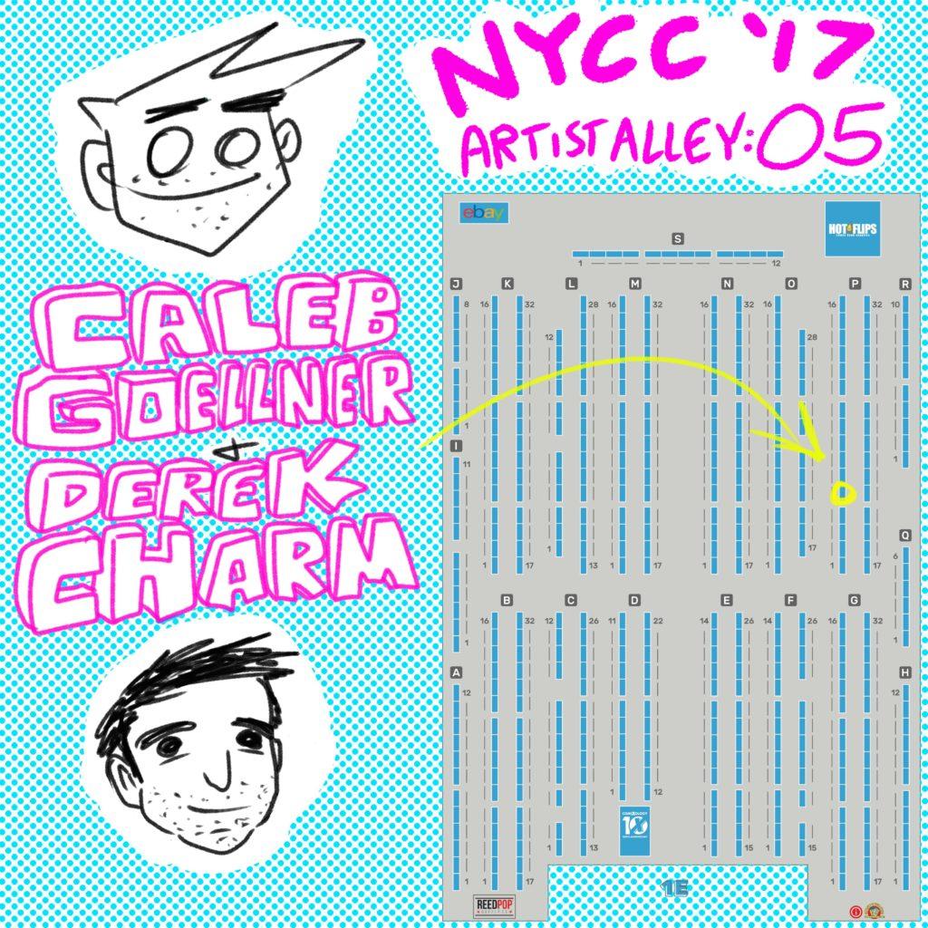 NYCC 2017 Caleb Goellner Derek Charm